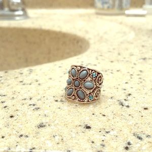 Jewelry - Turquoise and silver ring size 7